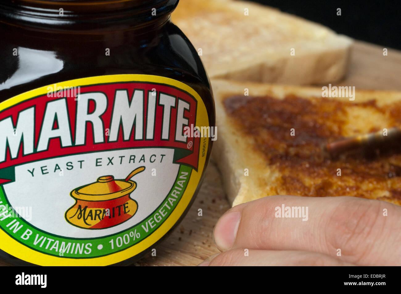 Illustrative image of Marmite, a Unilever food product. - Stock Image