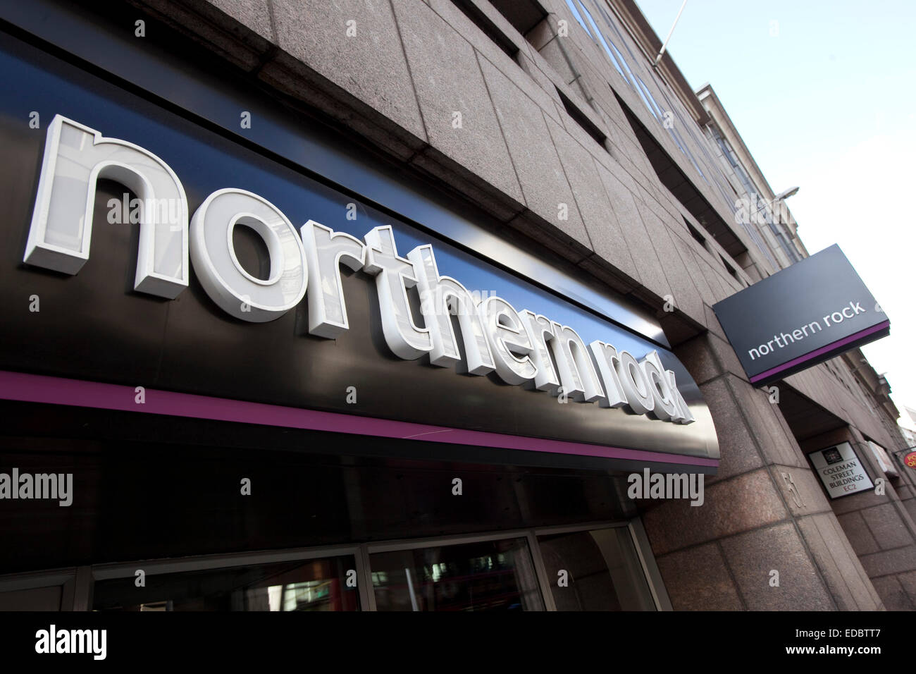 Exterior of a Northern Rock branch. - Stock Image