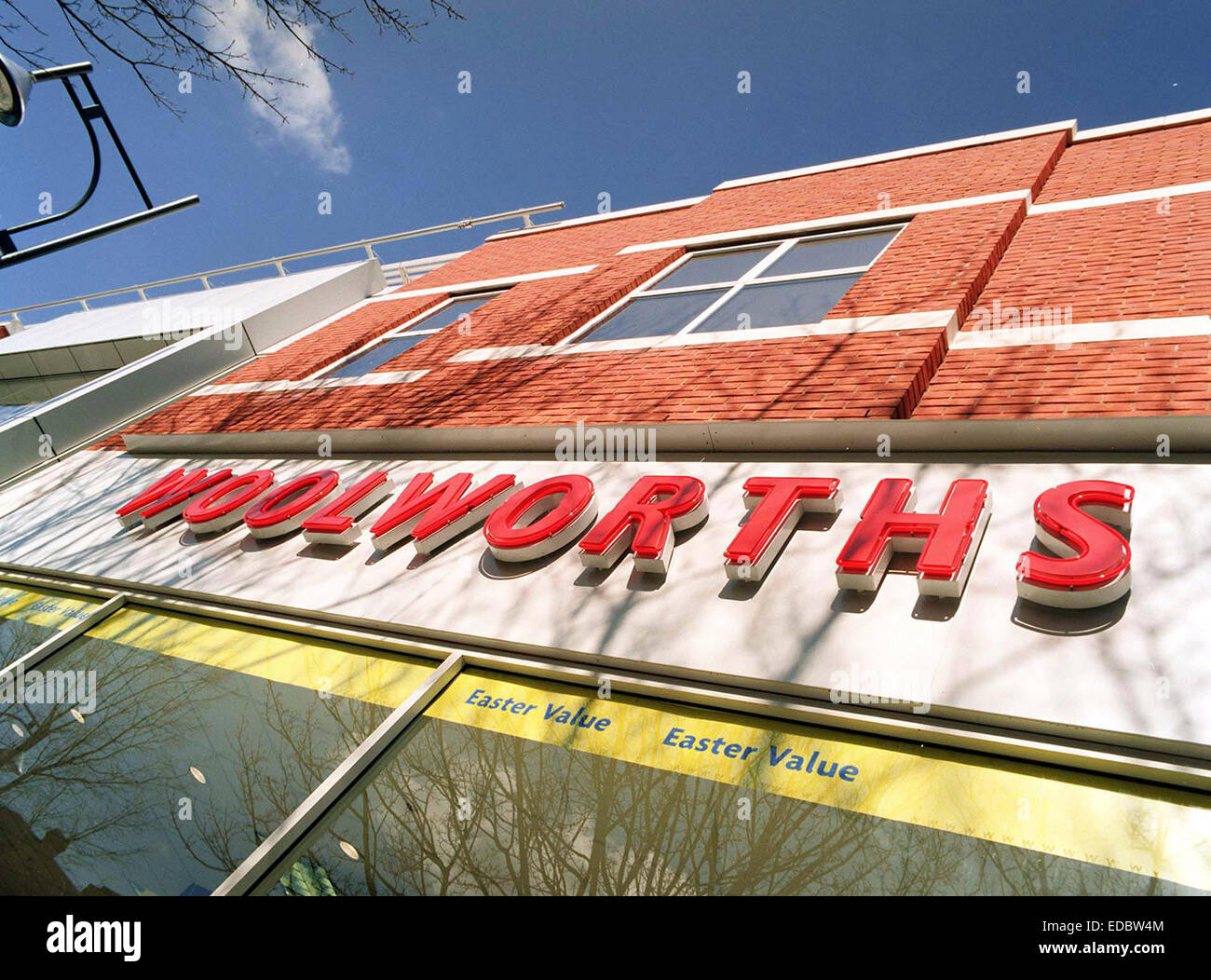 Exterior of a Woolworth store. The company went into administration in 2008. - Stock Image