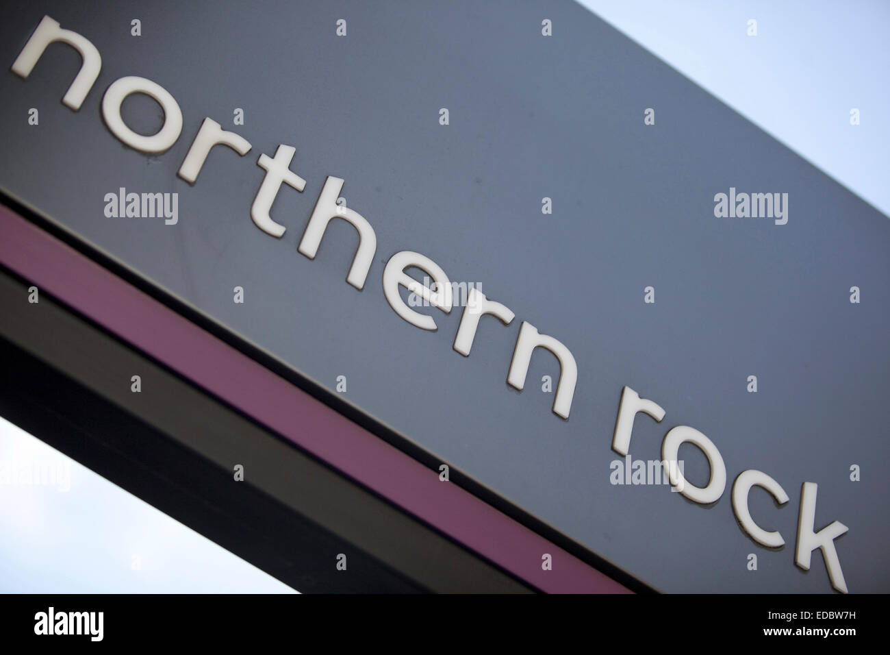 Northern Rock branch sign. Stock Photo