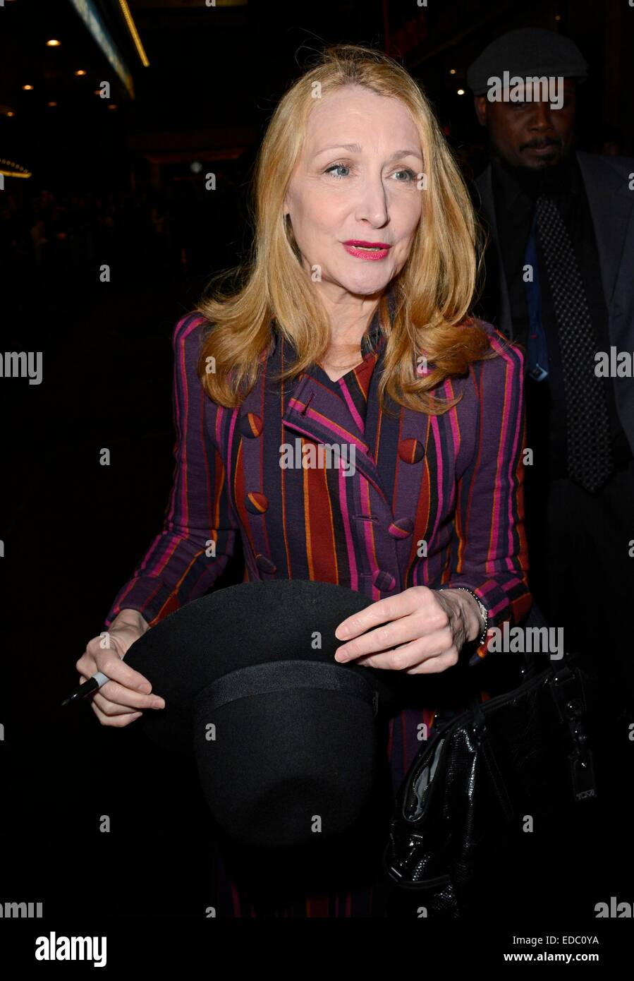 Patricia Clarkson out and about for Celebrity Candids - SUN, , New York, NY January 4, 2015. Photo By: Derek Storm/Everett - Stock Image