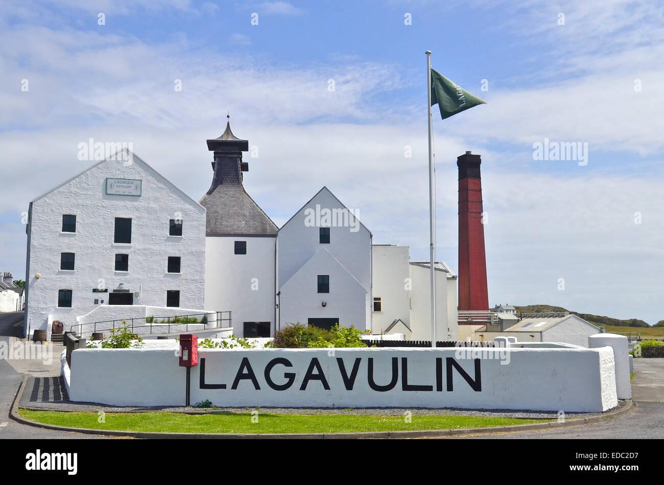 Lagavulin Whisky Distillery, Islay, Scotland - Stock Image