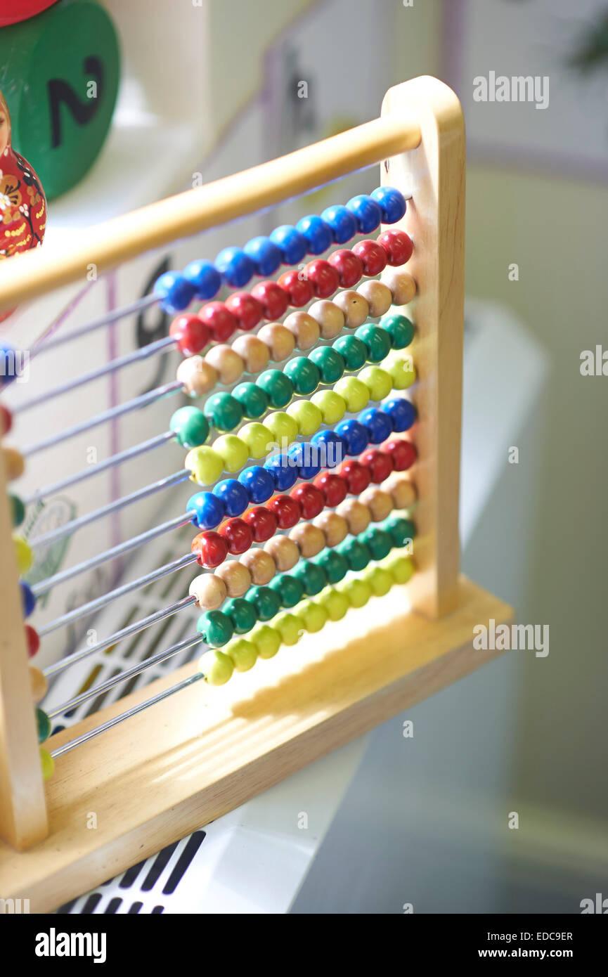 school abacus - Stock Image