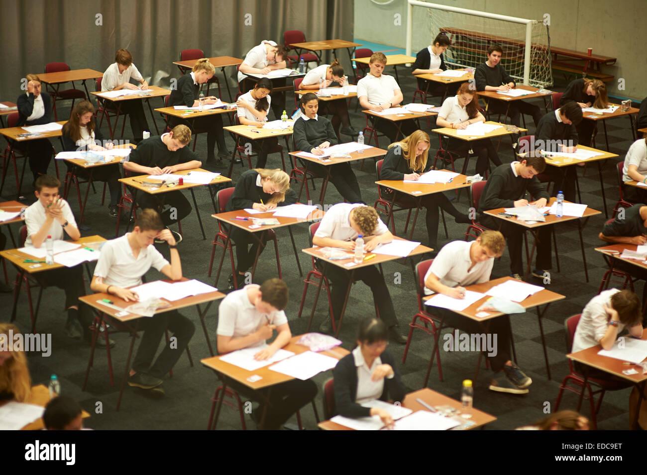 exam hall - Stock Image