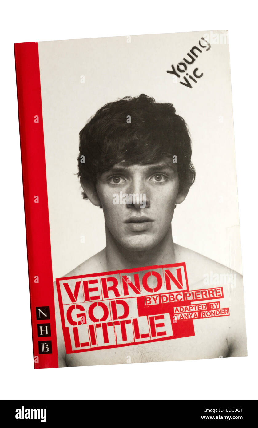 Programme / text for the 2007 production of Vernon God Little by DBC Pierre at the Young Vic. - Stock Image
