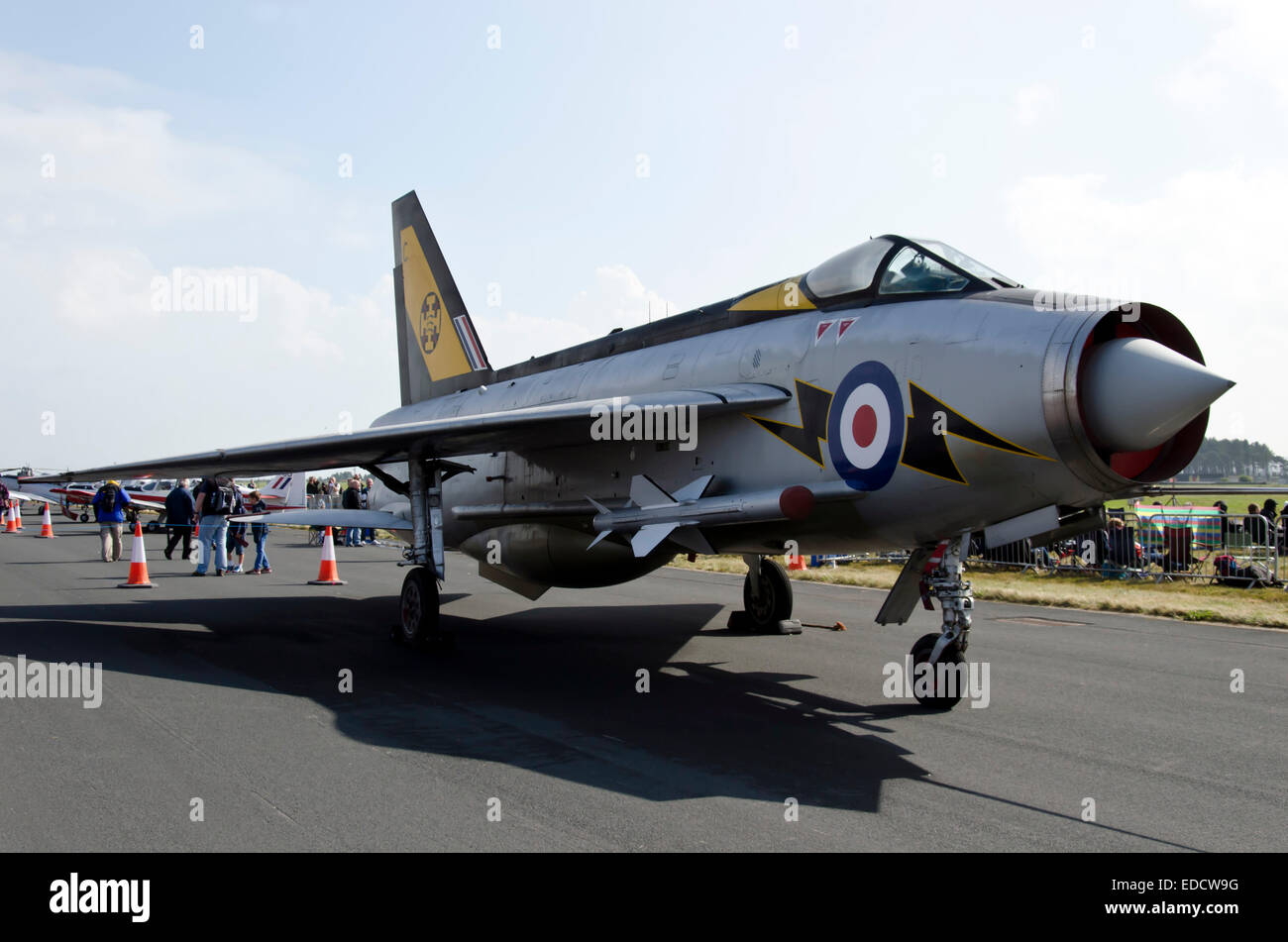 English Electric Lightning F3 fighter aircraft at Leuchars Air Show, Scotland, 2013. - Stock Image