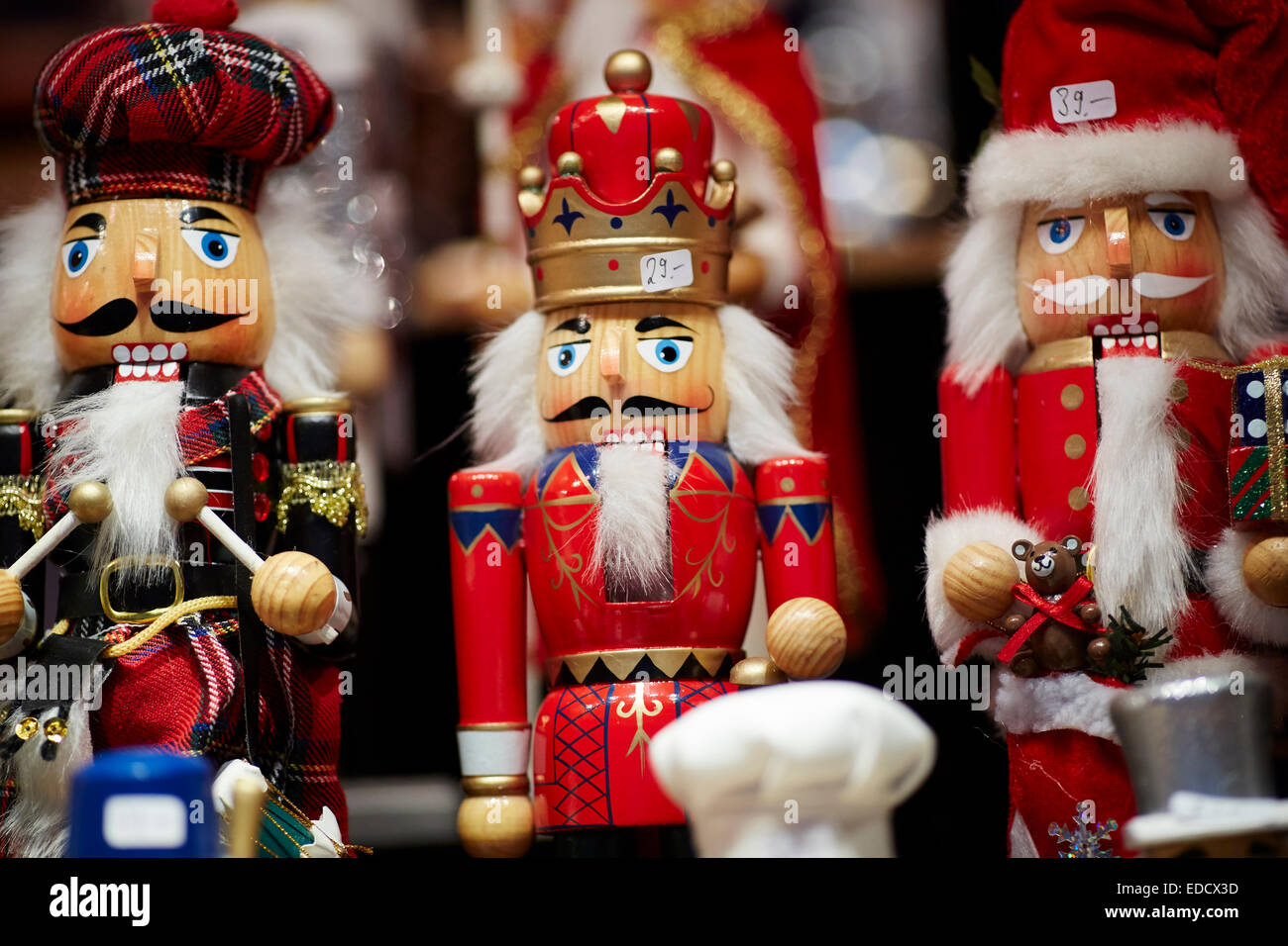 Wooden Nutcrackers soldier at Manchester German Christmas Markets ...
