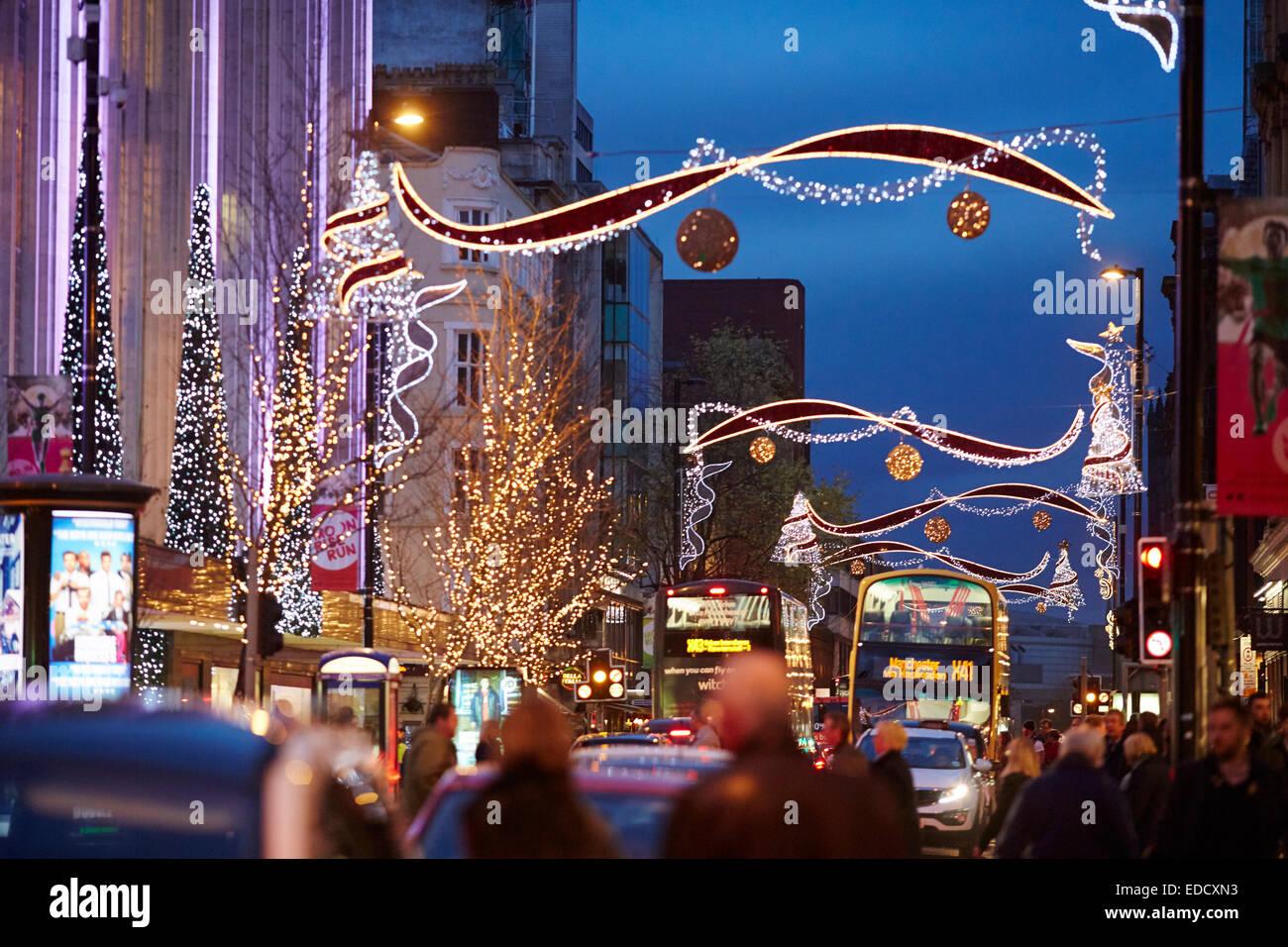 Christmas Lights Manchester Stock Photos & Christmas Lights ...