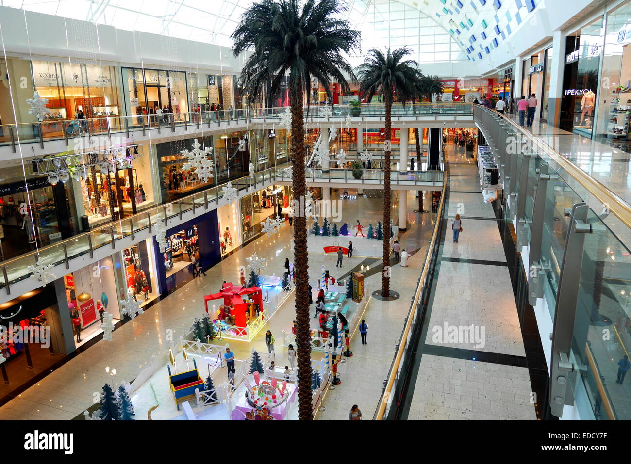 Interior of City Center Mall at Christmas, Kingdom of ...