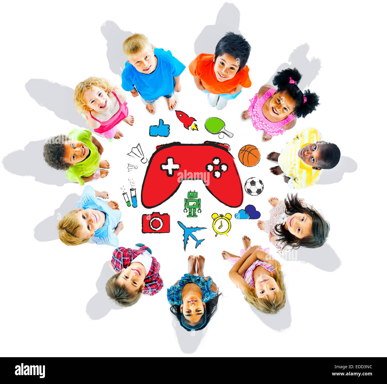 Group of Children and Play Concept - Stock Image