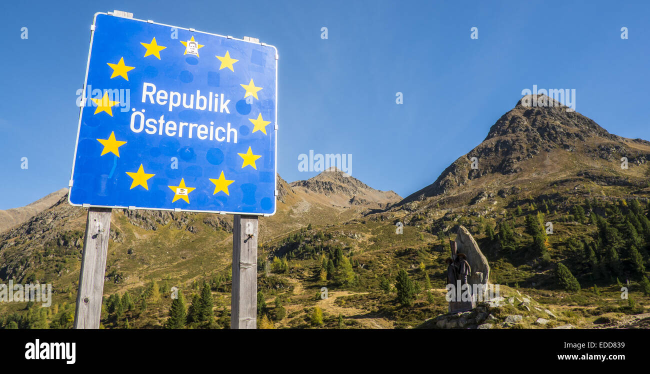 Republik Österreich, Austrian republic, Austria - Stock Image