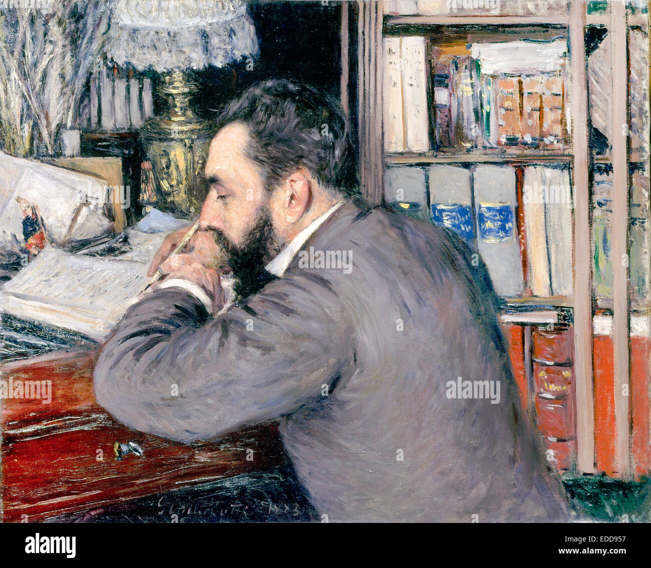 Gustave Caillebotte, Henri Cordier 1883 Oil on canvas. Musee d'Orsay, Paris, France. - Stock Image