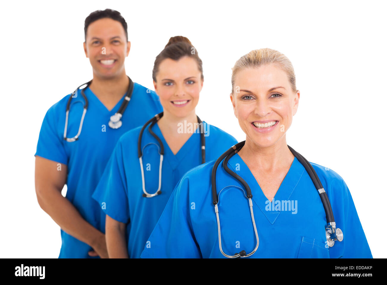 confident senior medical doctor and colleagues - Stock Image