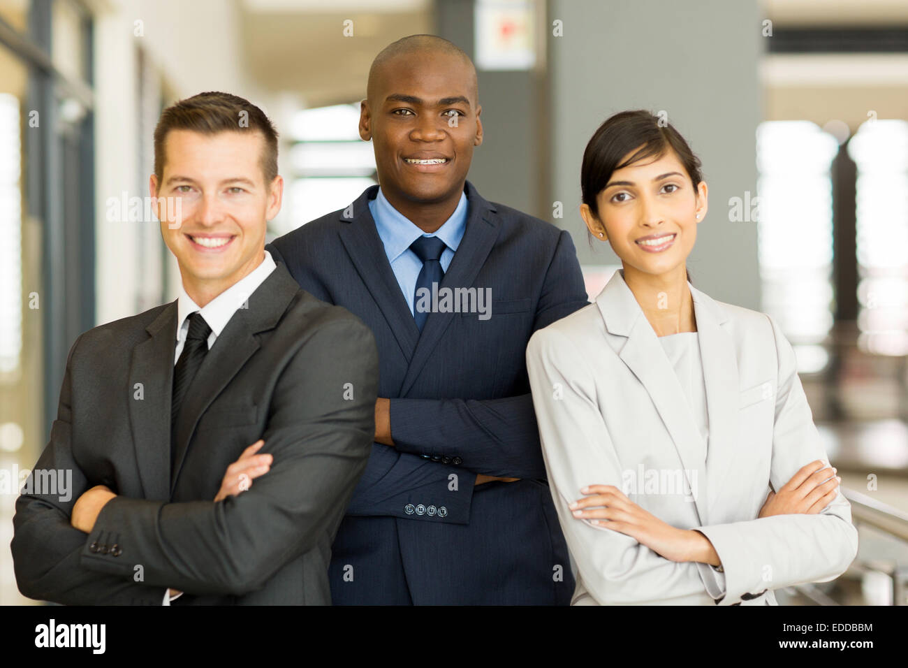 happy afro American businessman with co-workers - Stock Image