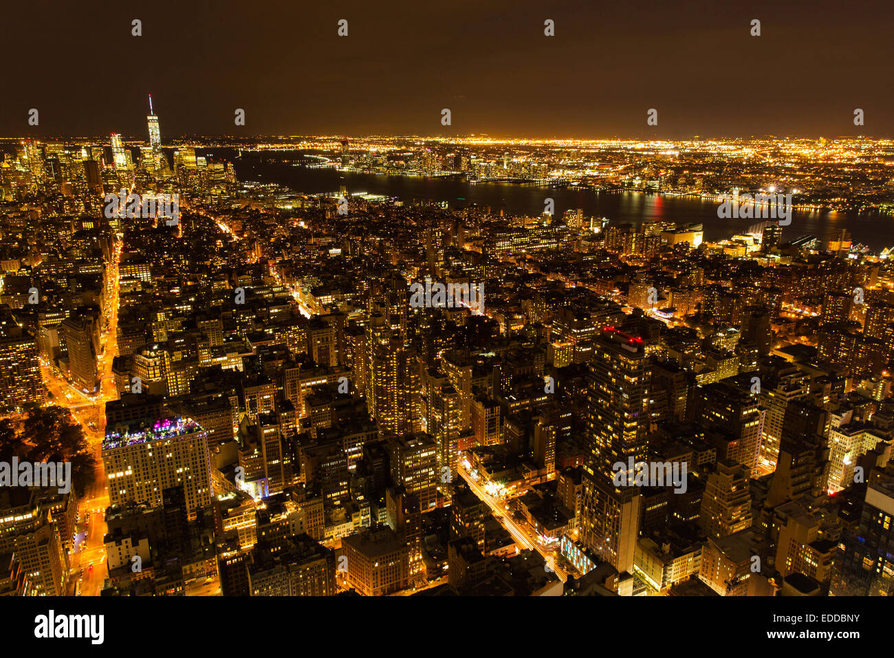 Beautiful New York City Night View Usa Stock Photo Alamy