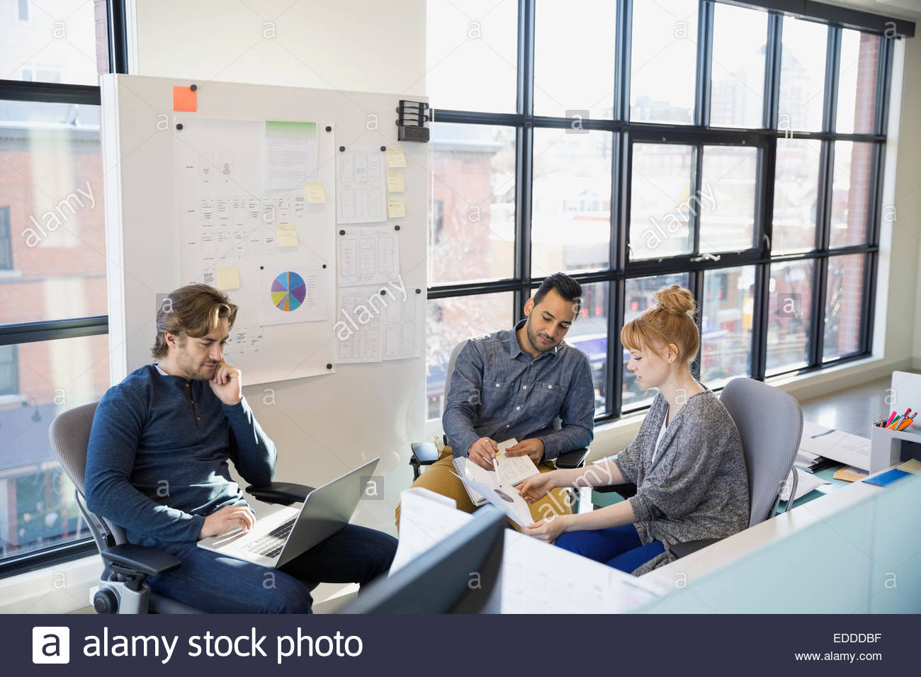 Business people meeting in office Stock Photo