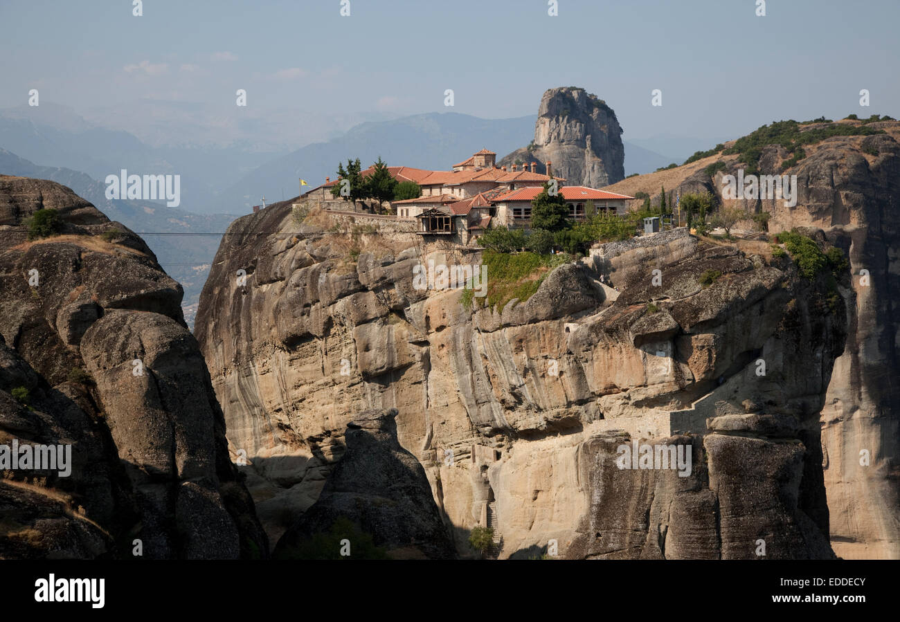 Meteora Monasteries, UNESCO World Heritage Site near Kalambaka, Thessaly, Greece - Stock Image