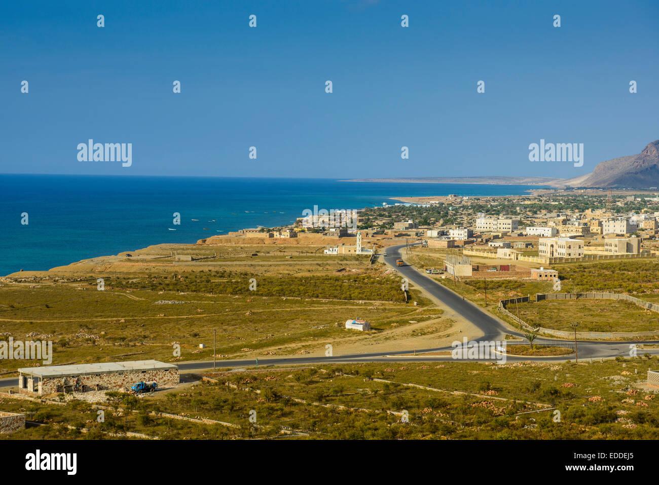 Coastline, Hadibu, island of Socotra, Yemen - Stock Image