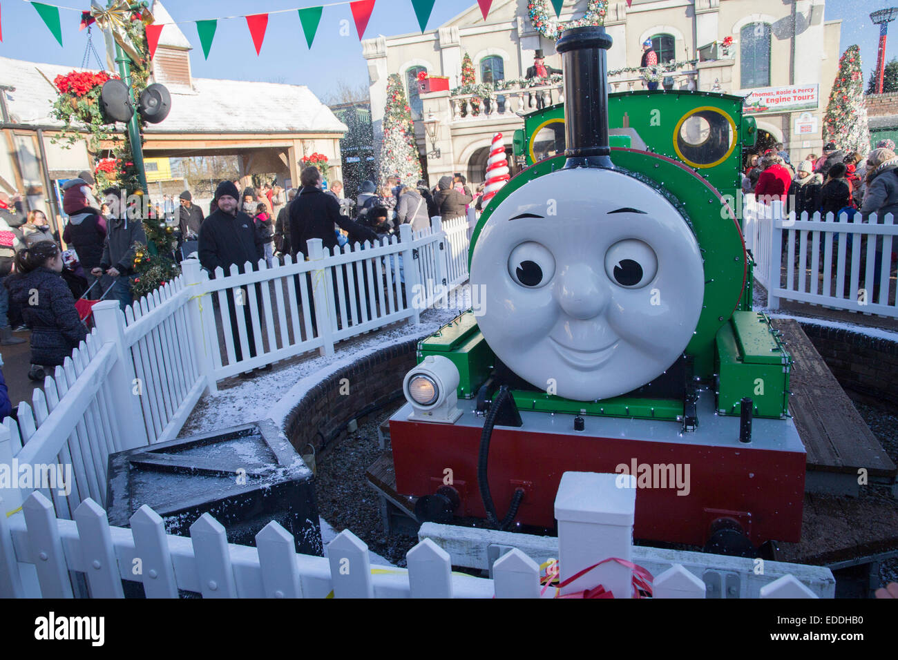 Percy The Engine At Thomas Land Drayton Manor Christmas