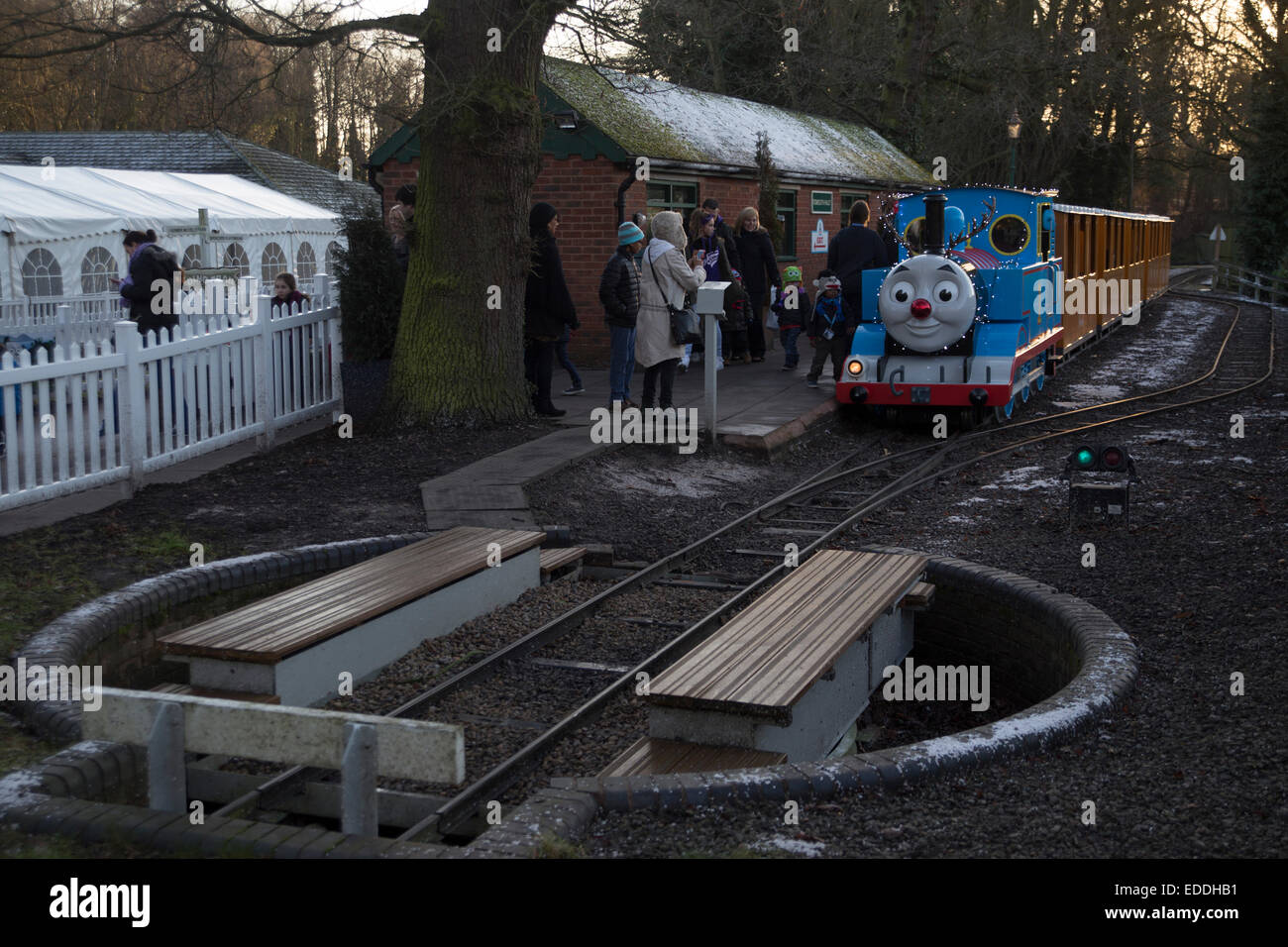 Phenomenal Thomas The Tank Engine Pulls In To A Station At Thomas Land Home Remodeling Inspirations Genioncuboardxyz