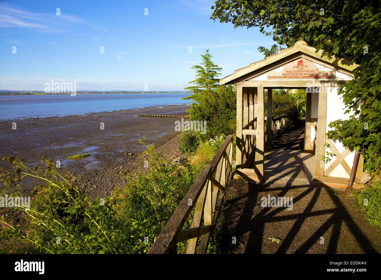 Summerhouse at theTerminus of Hadrian's Wall, Bowness-on-Solway Cumbria England UK. - Stock Image
