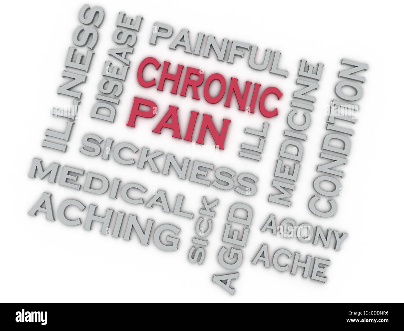 3d image CHRONIC PAIN issues concept word cloud background - Stock Image