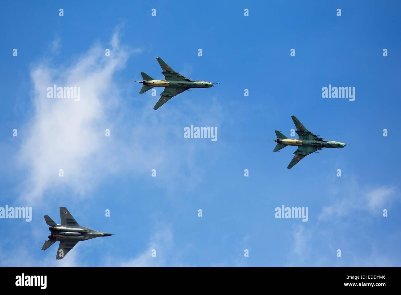 Military aircraft in flight - Stock Image