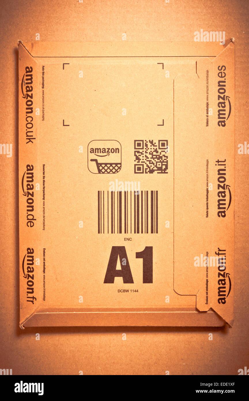 amazon cardboard package - Stock Image