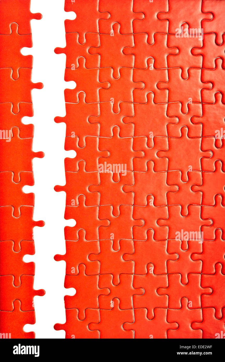 jigsaw puzzle incomplete - Stock Image