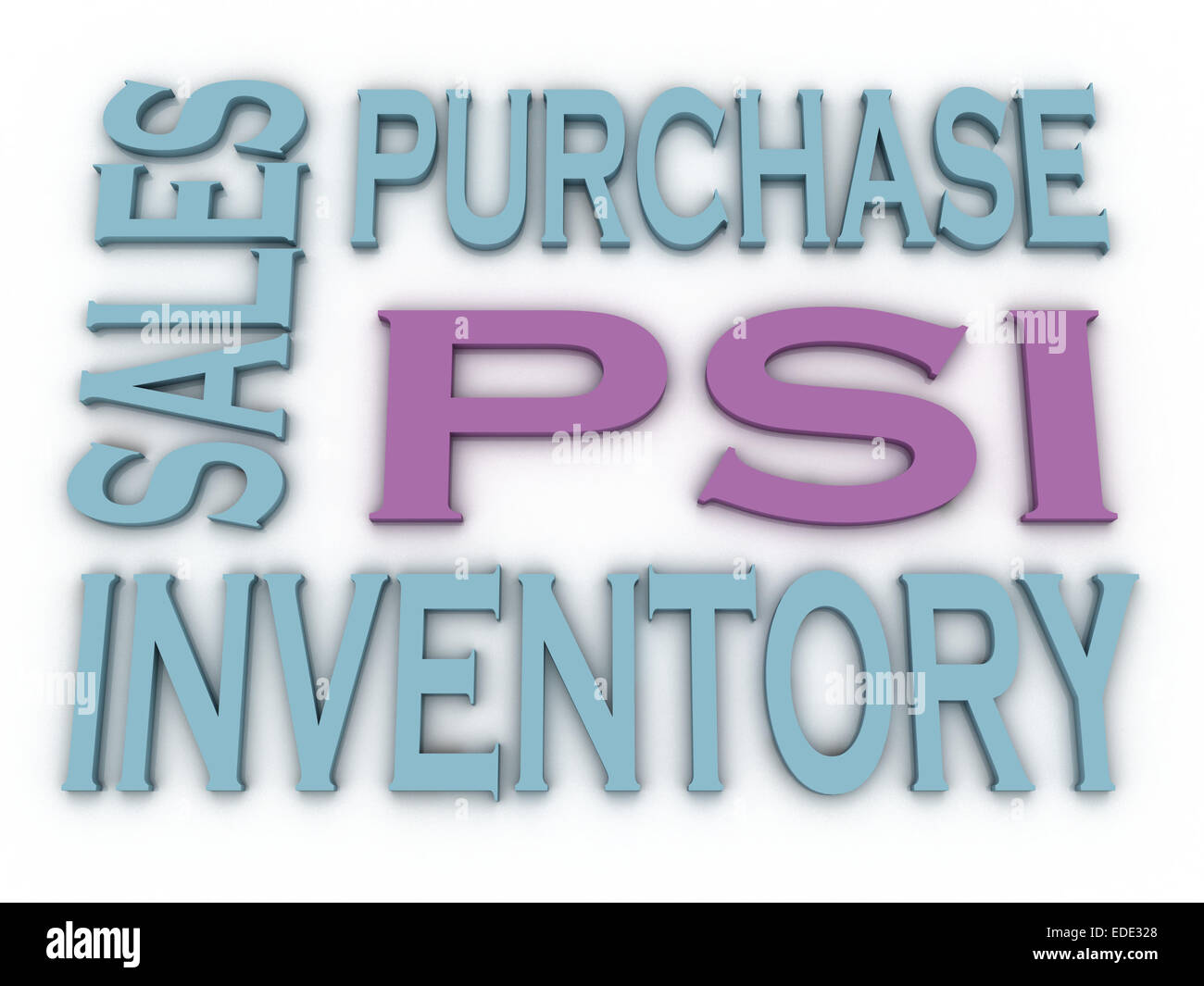 3d image PSI (Purchase, Sales and Inventory)  issues concept word cloud background - Stock Image