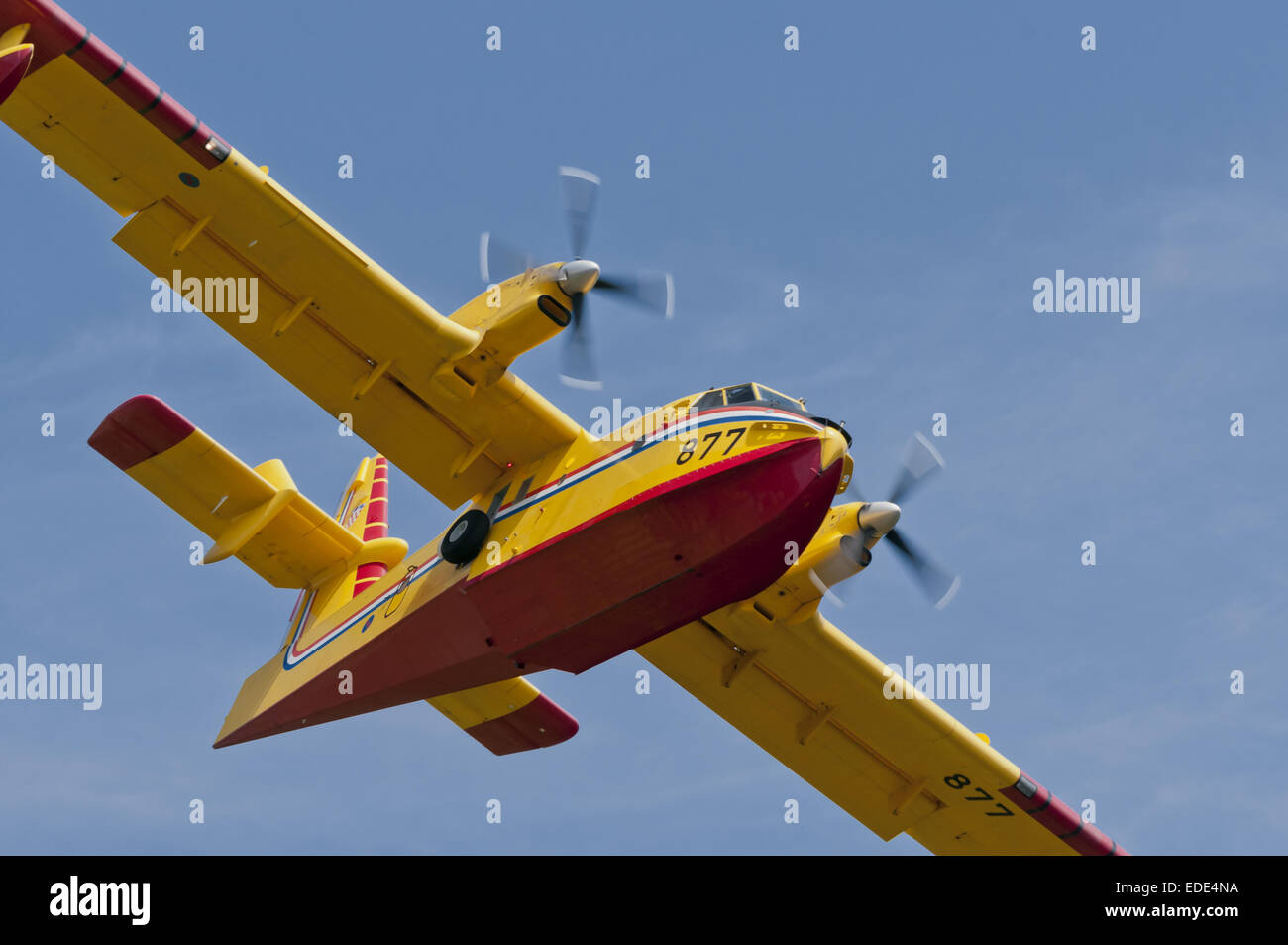 canadair cl-415, firefighting aircraft in flight in croatia - Stock Image