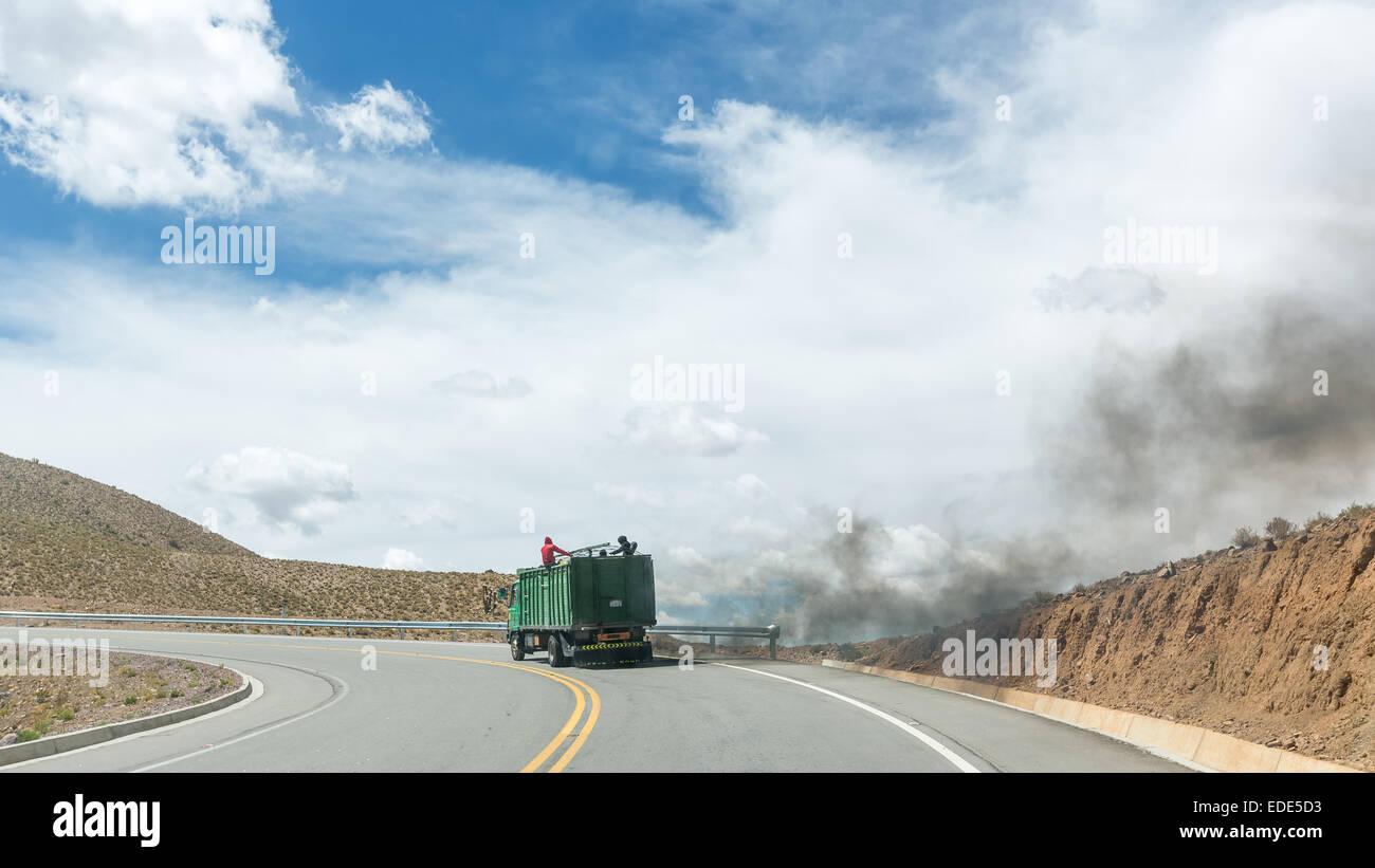 Not so environmentally Potosi, Bolivia, South America - Stock Image