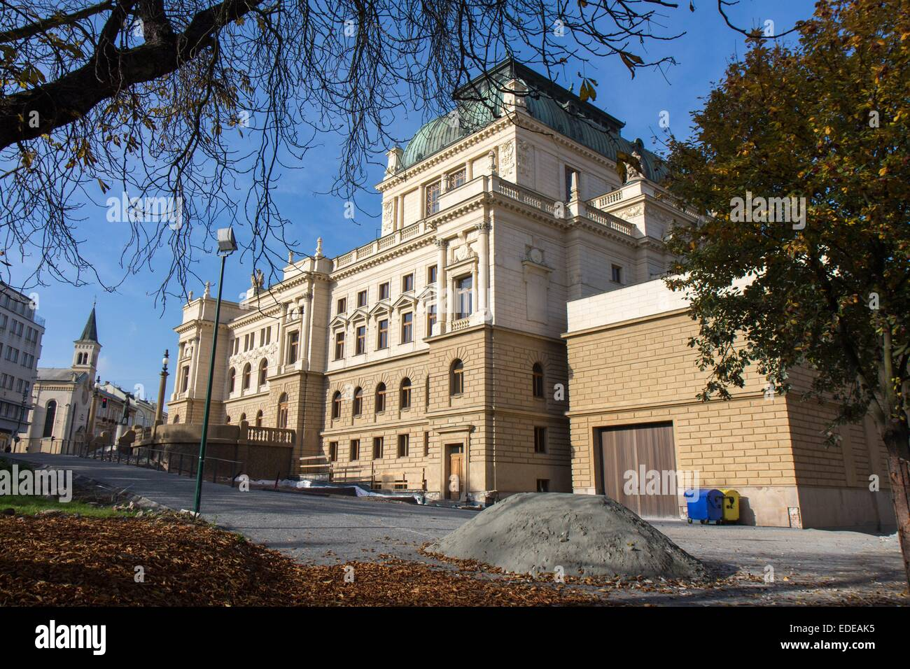 Czech Republic: Great Theatre in the center of Plzen. Photo from 8. November 2014 - Stock Image