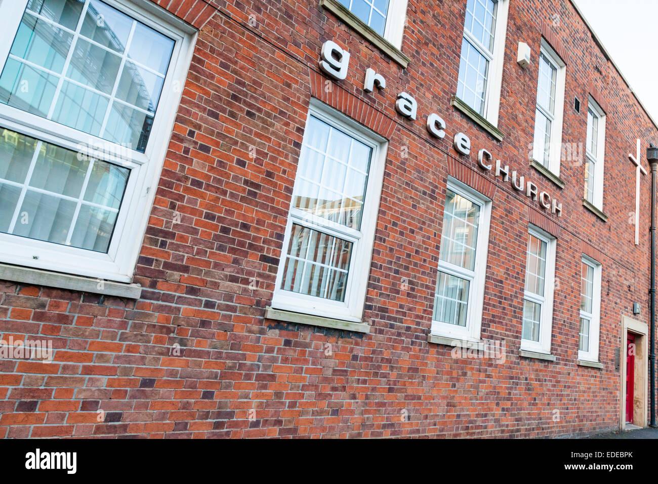 Grace Church, Nottingham, England, UK - Stock Image