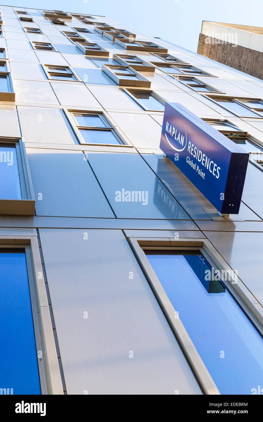 Student accommodation provided by Kaplan Residences at Global Point, Nottingham, England, UK - Stock Image