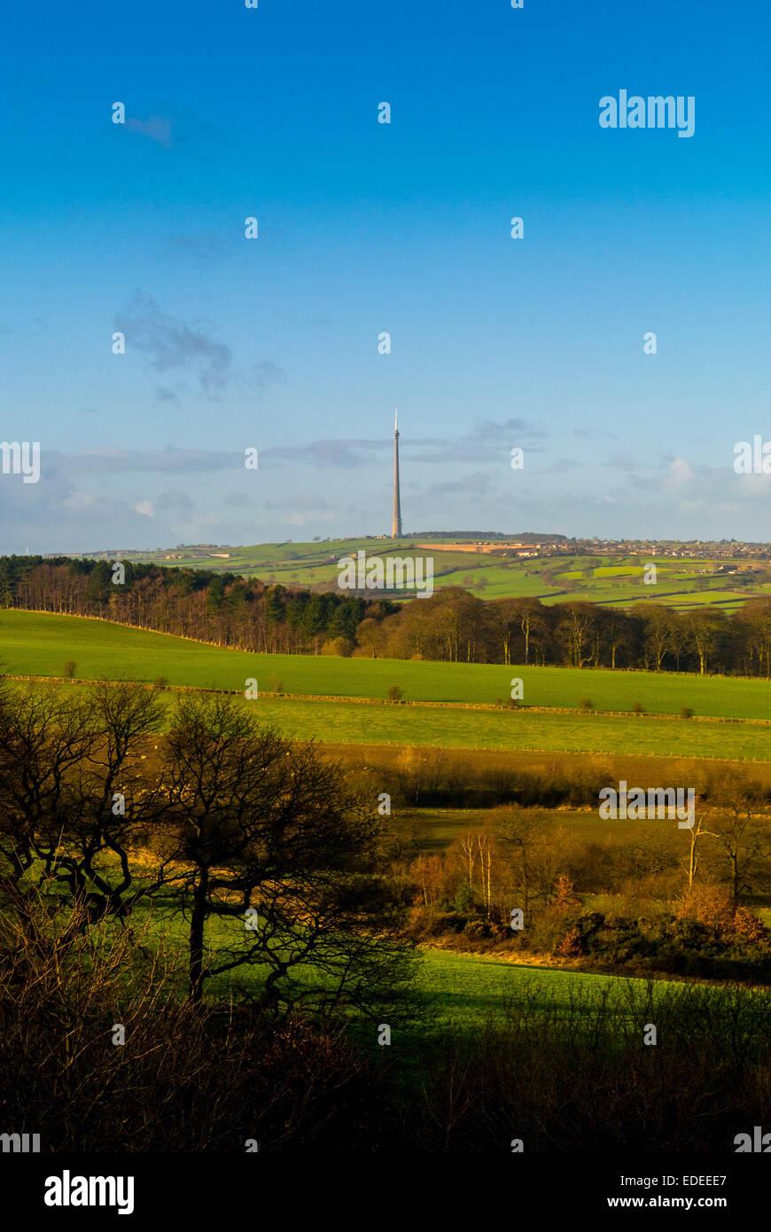 Emley Moor Transmission Mast - Stock Image