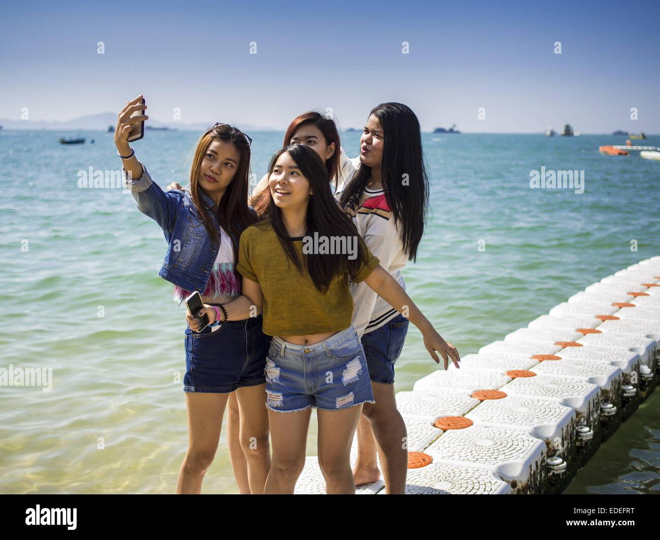 Pattaya Chonburi Thailand 6th Jan 2015 Thai Women