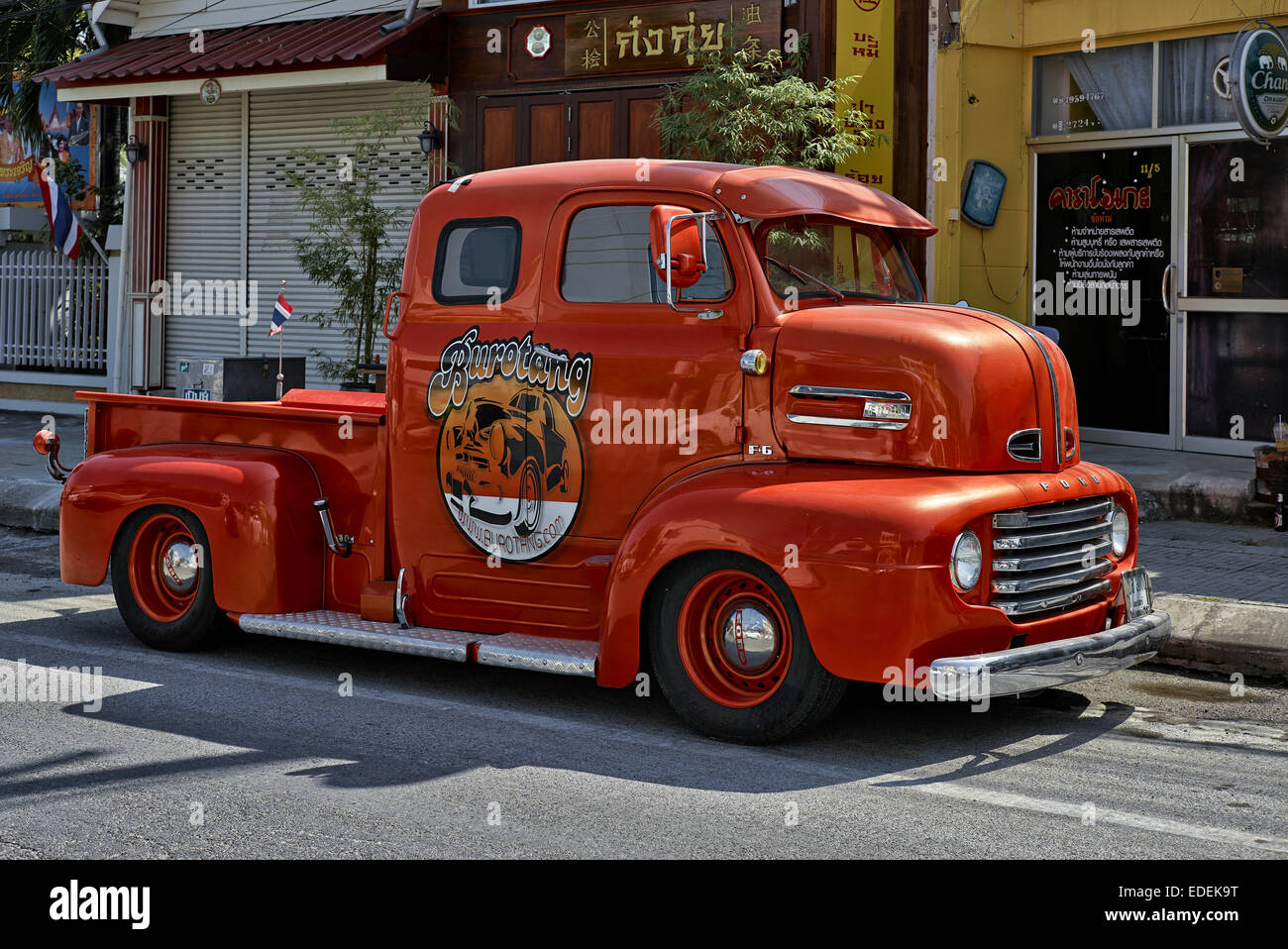 Ford Pickup Trucks Stock Photos Images 1950s F100 Highly Renovated Vintage 1950 F 6 Truck Image