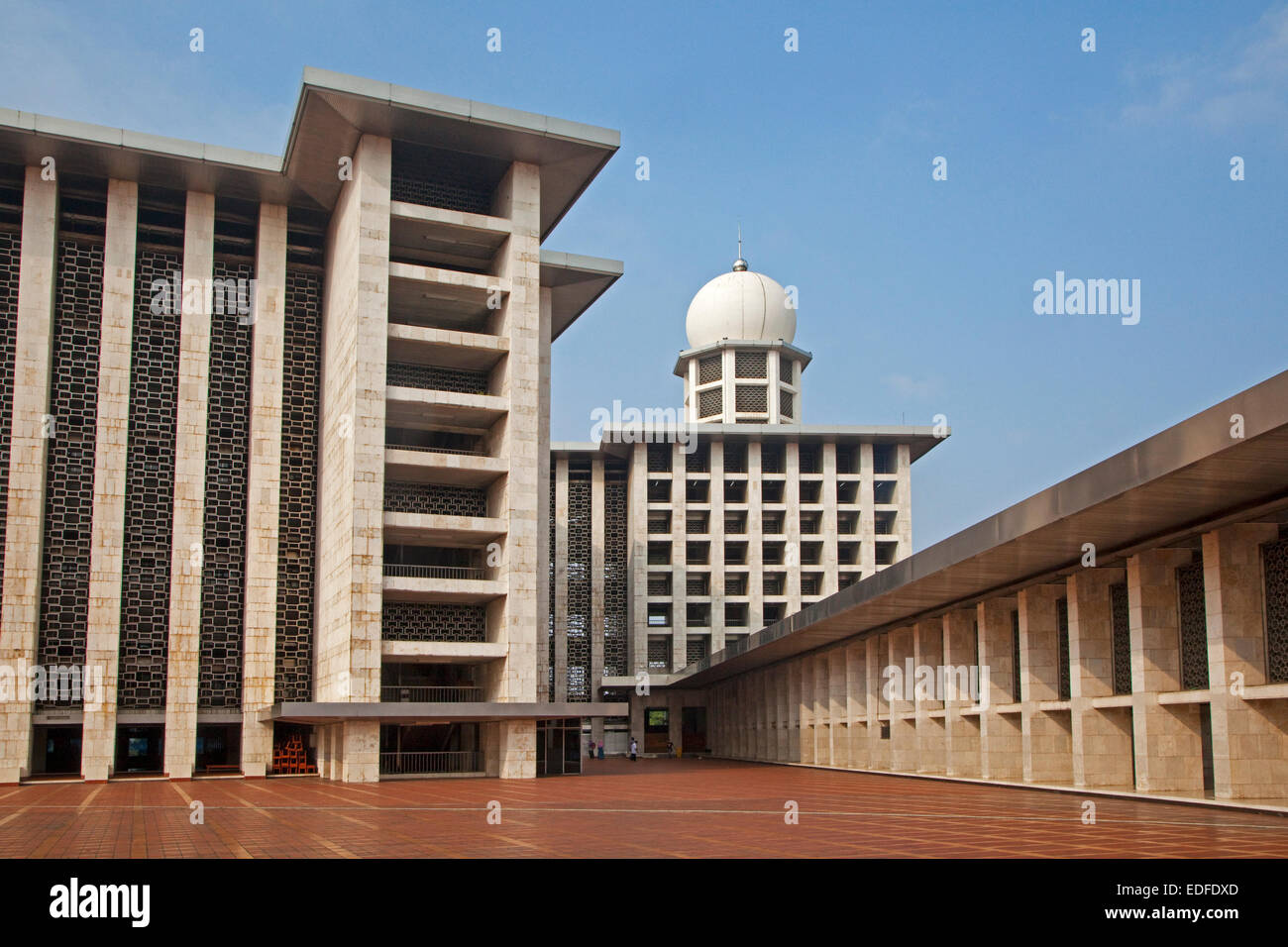Istiqlal Mosque / Masjid Istiqlal, largest mosque in Indonesia and South East Asia at Jakarta - Stock Image