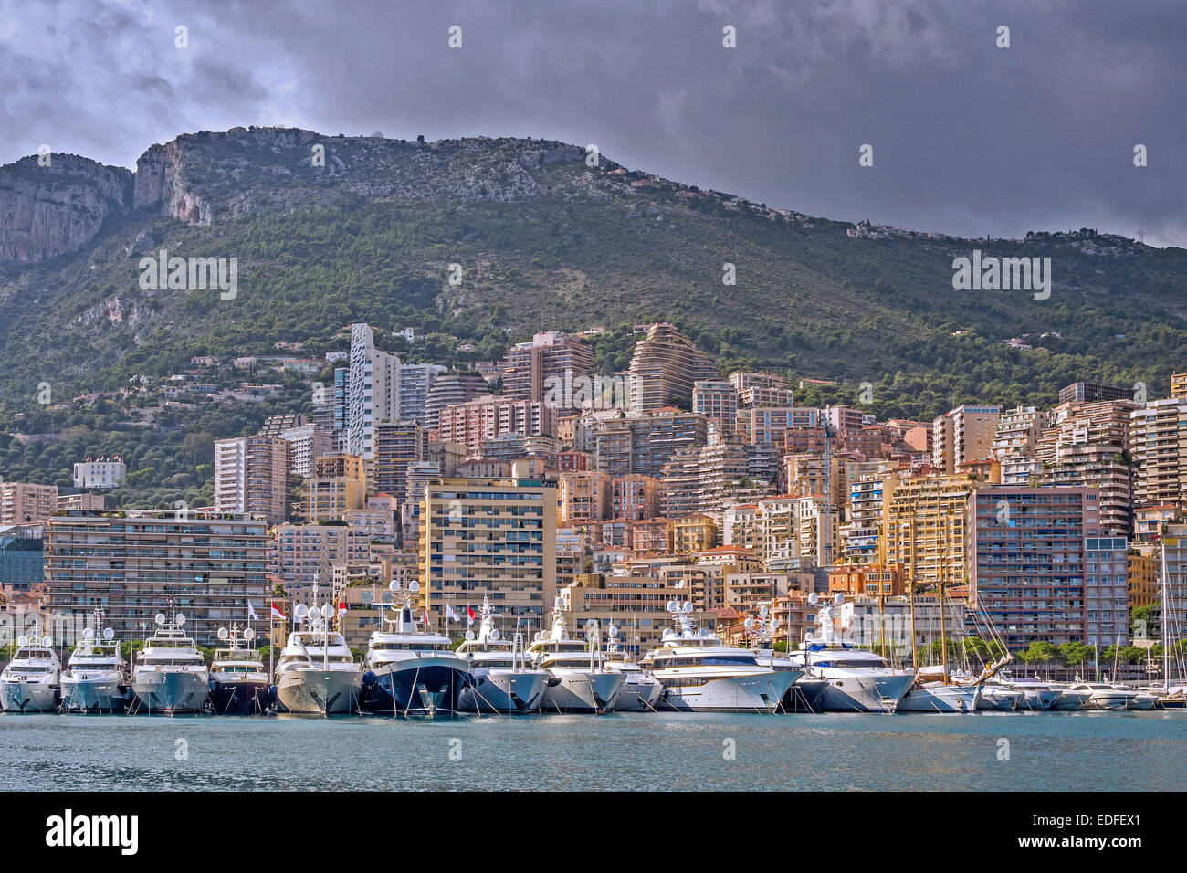 Harbour and City Monte Carlo Monaco - Stock Image