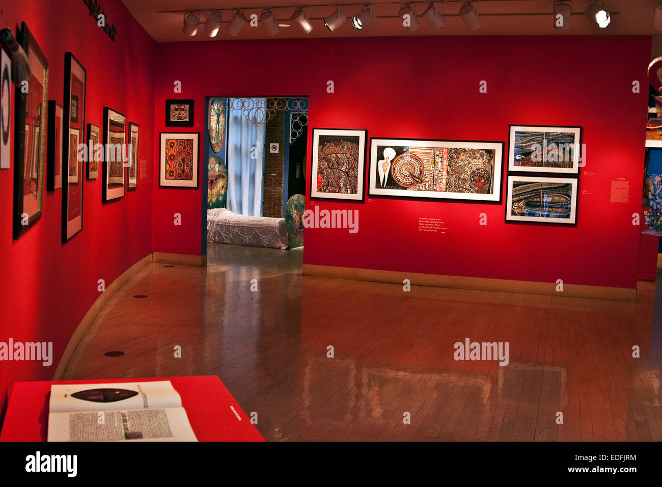 American Visionary Art Museum, Baltimore, Maryland, AVAM, A gallery of visionary art in the museum - Stock Image