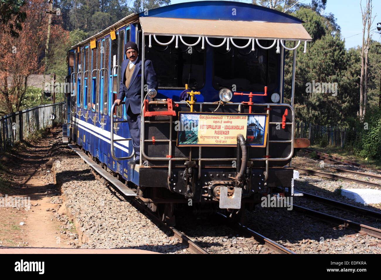 Ooty India Stock Photos Images Alamy Wiring Harness Meaning In Tamil Miniature Train Travelling From To Mettupalayam Nadu Image