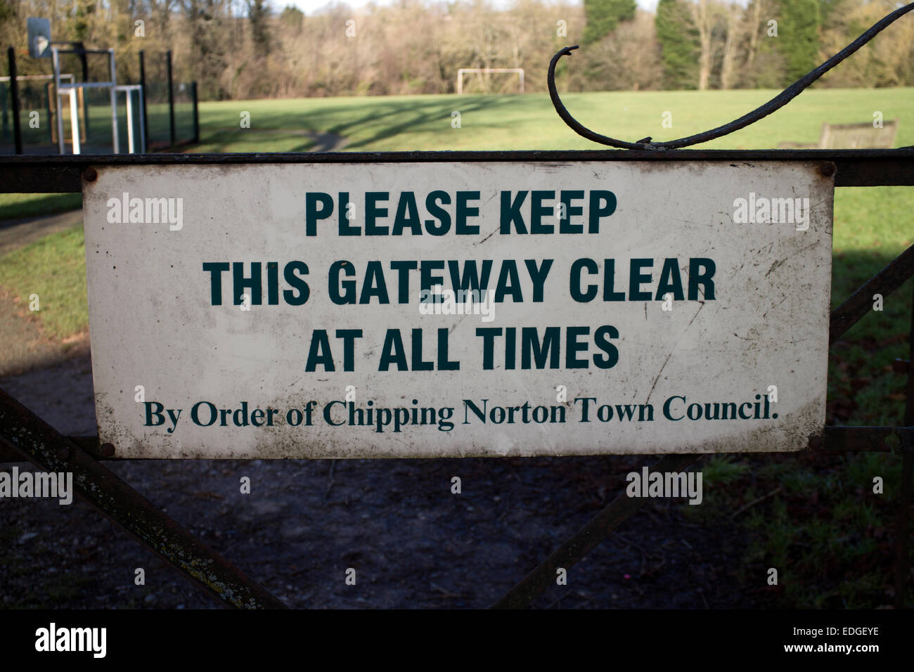 Chipping Norton Town Council sign, Oxfordshire, UK - Stock Image