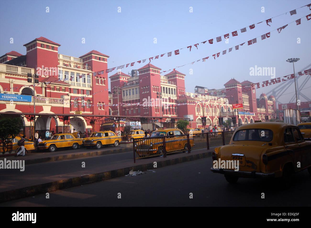 Howrah Station, Kolkata (Calcutta), India - Stock Image