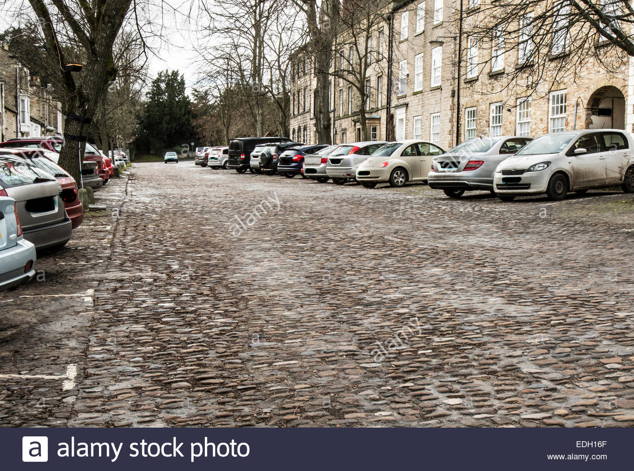 Long avenue in Richmond, Yorkshire - Stock Image