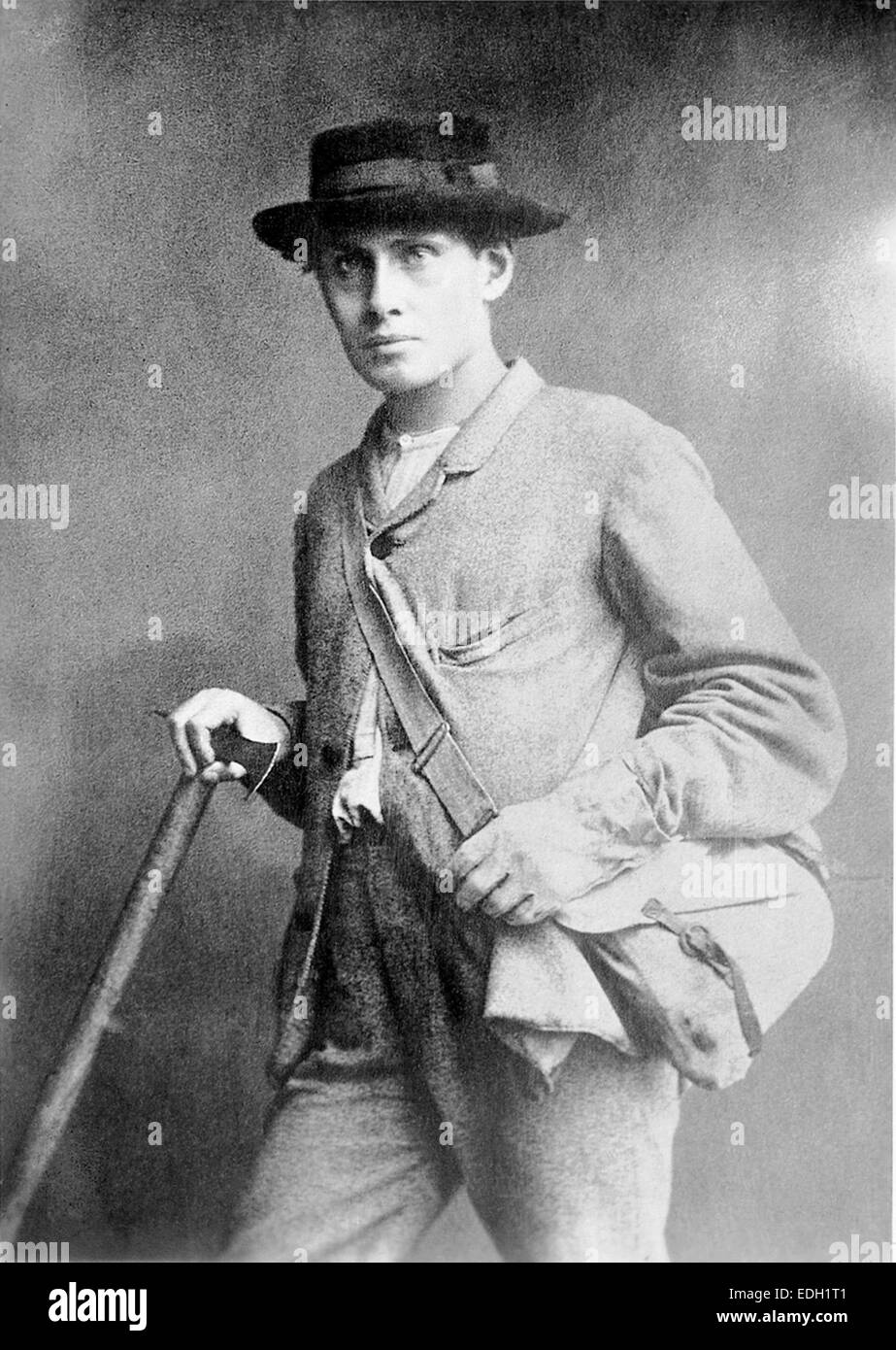 Edward Whymper, English mountaineer and explorer. - Stock Image