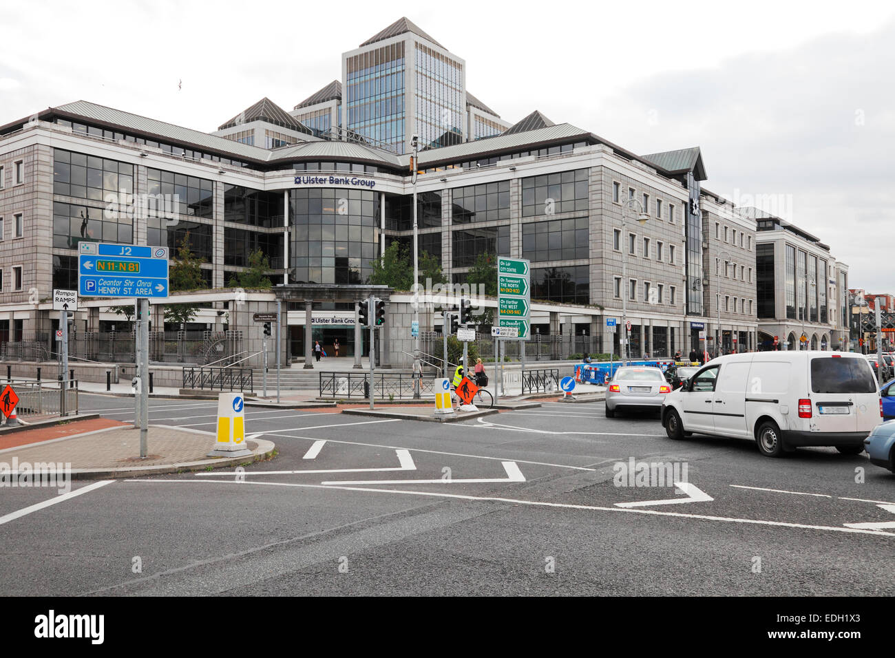 Ulster Bank Headquarters in Dublin - Stock Image