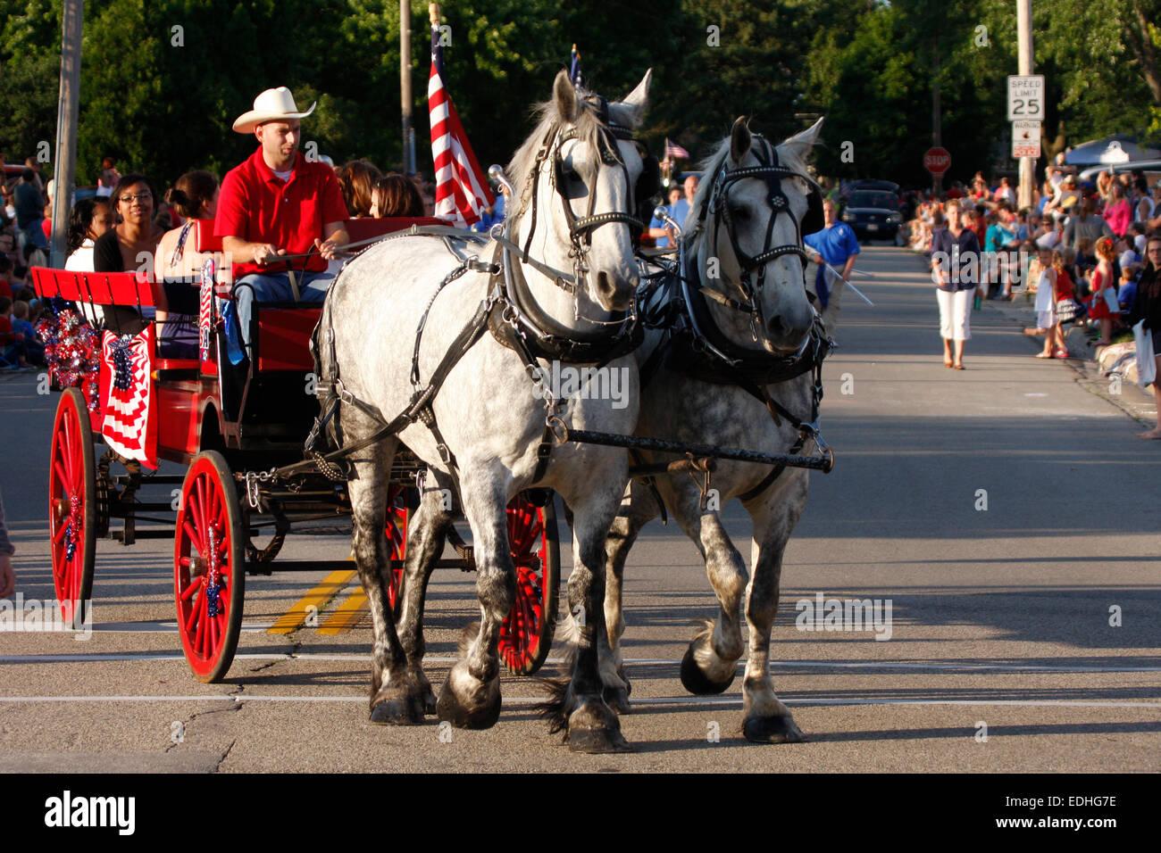 Horses Pulling Wagon Stock Photos Amp Horses Pulling Wagon