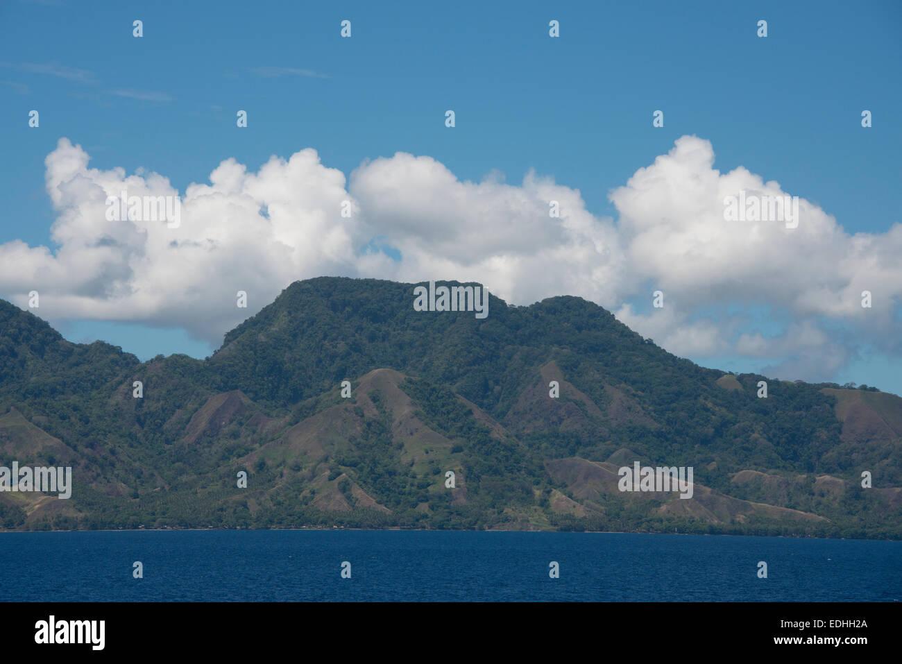 Melanesia, Solomon Islands, Guadalcanal Island. Coastal view of the area around the capital city of Honiara. - Stock Image