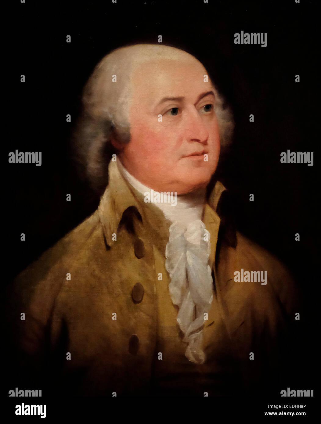 President John Adams - John Trumbull 1793 - Stock Image
